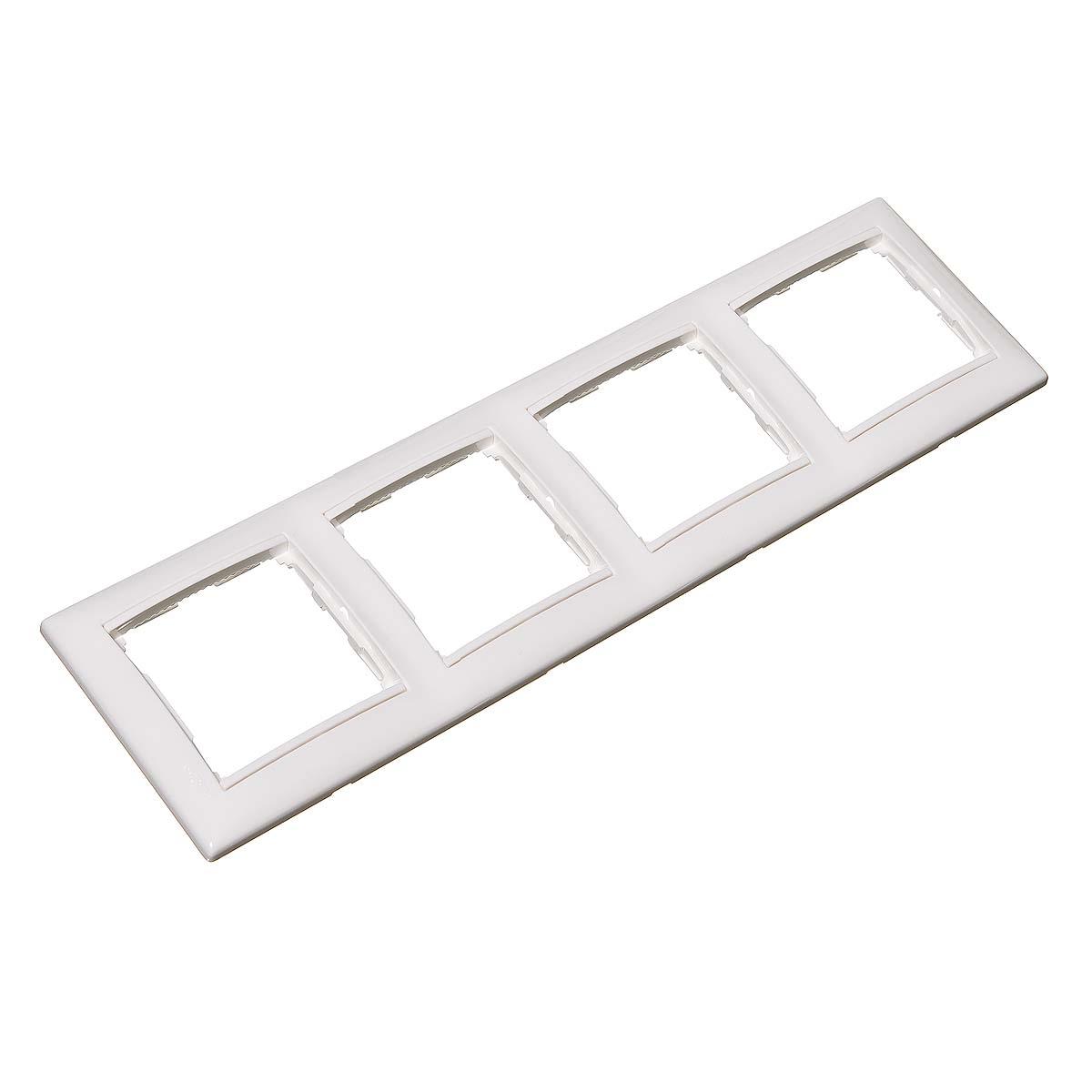 Рамка четырехместная Legrand Valena белая