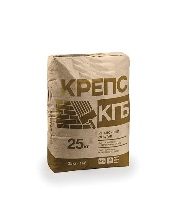 Крепс КГБ (клей для газобетона), 25кг