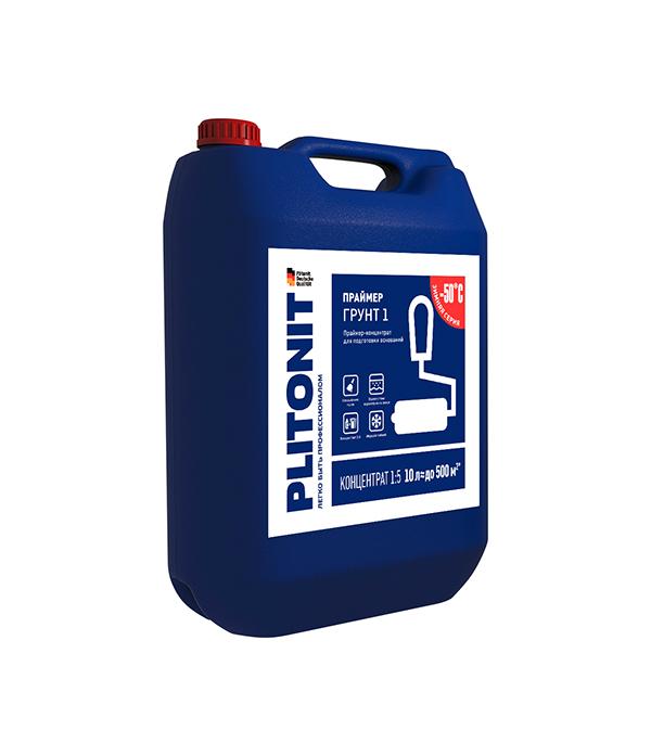 Грунт PLITONIT 1 концентрат 10 л затирка для плитки plitonit бежевая 20 кг