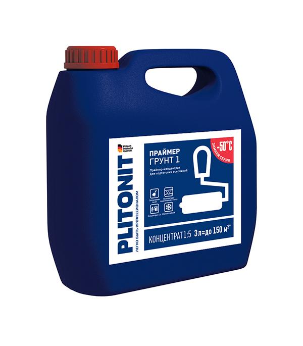 Грунт PLITONIT 1 концентрат 3 л затирка для плитки plitonit бежевая 20 кг