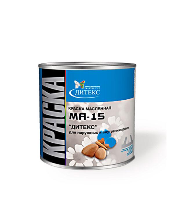 Краска масляная МА-15 голубая Дитекс 2,6 кг