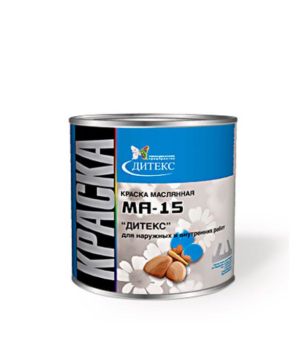 Краска масляная МА-15 красно-коричневая Дитекс 2,6 кг