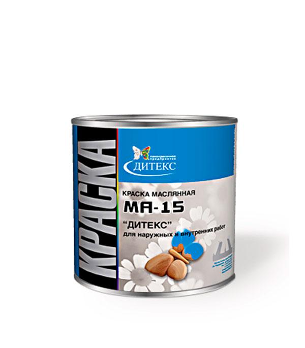 Краска масляная МА-15 черная Дитекс 2,6 кг