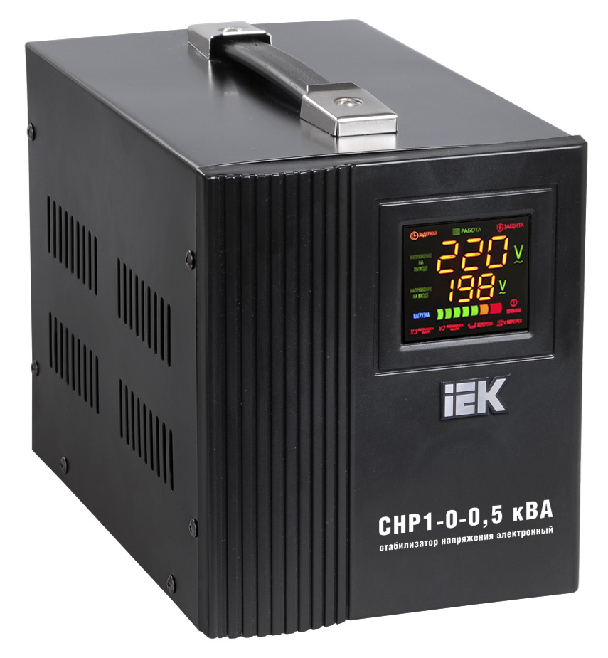 Стабилизатор напряжения СНР1-0-  0,5 кВА электронный переносной ИЭК