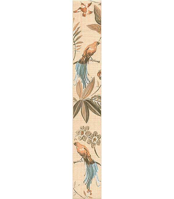 Плитка бордюр 60х400х8 мм Дивный сад флора