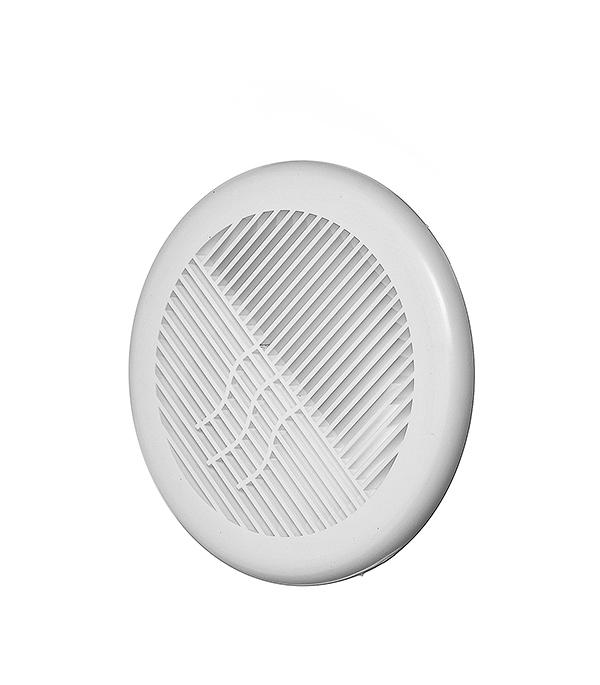 Решетка вентиляционная круглая пластиковая d143 мм c фланцем d100 мм