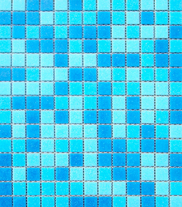 Мозаика стекломасса 327х327х4 мм бело-голубой микс на бумаге (10 шт = 1,07 кв.м)