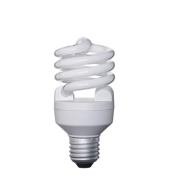 Лампа энергосберегающая E27, 20W, MiniTwist, 4000К (холодный свет), Osram