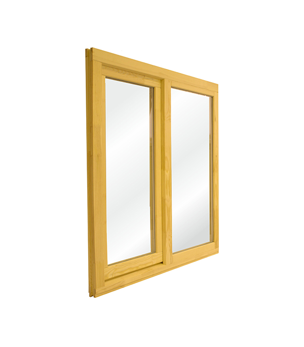 Окно деревянное РадДоз 1160х1170 мм 2 створки (глухая - поворотная) анкерная пластина 150х25х1 2 мм 10 шт поворотная для профиля rehau