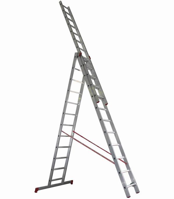 Лестница 3-х секционная профессиональная 3х12 Новая высота