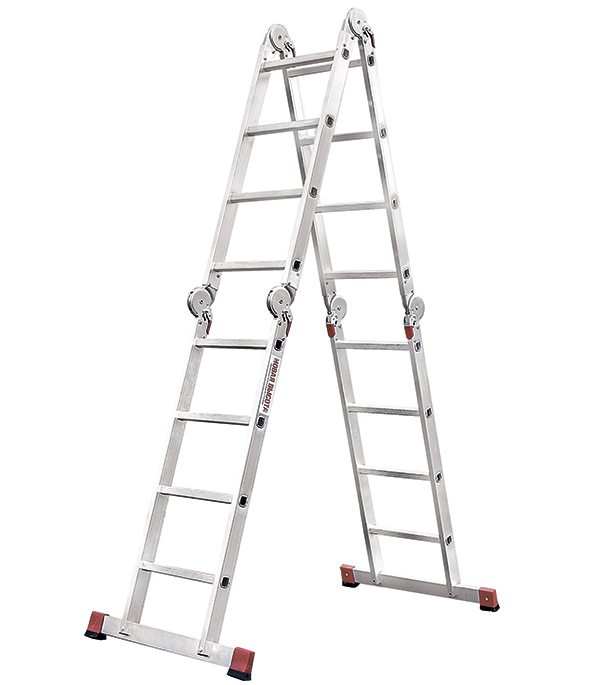 Лестница 4-х секционная шарнирная 4х4 Новая высота