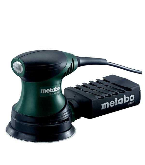 Шлифмашина эксцентриковая FSX 200 Intec, 240 Вт, 125 мм, Metabo шлифовальная машина metabo fsx 200 intec 609225500