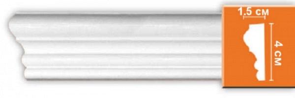 Плинтус (молдинг) из полиуретана 15х40х2400 мм Decomaster