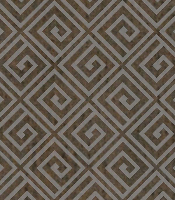 Керамогранит декор 70х70х9 мм Linen темно-коричневый/Грасаро