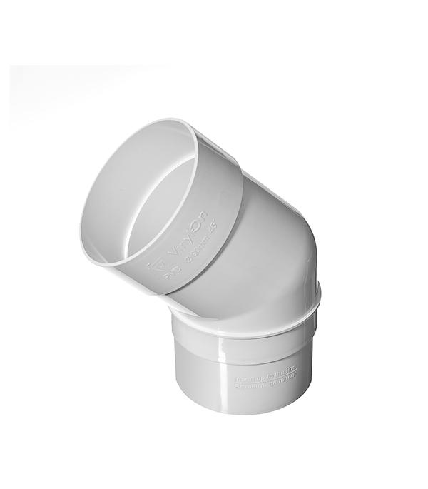 Колено трубы пластиковое d90 мм, 45° белое VINYL-ON