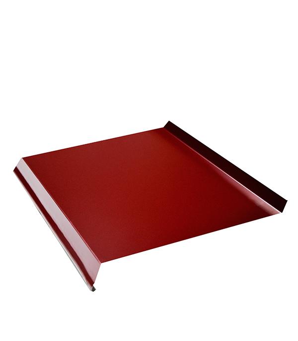 Отлив 200х2000 мм  красное вино  RAL3005 отлив белый 100х2000 мм ral9003