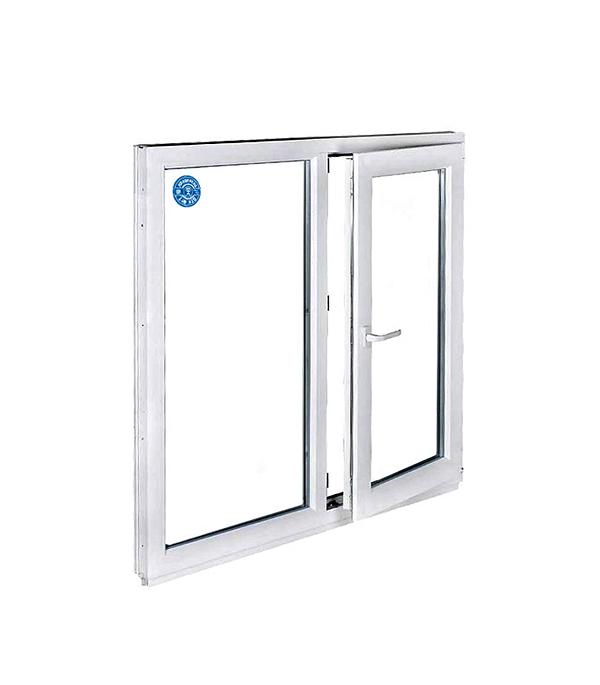 Окно металлопластиковое белое 1200х1200 мм 2 створки правая поворотно-откидная левая поворотная