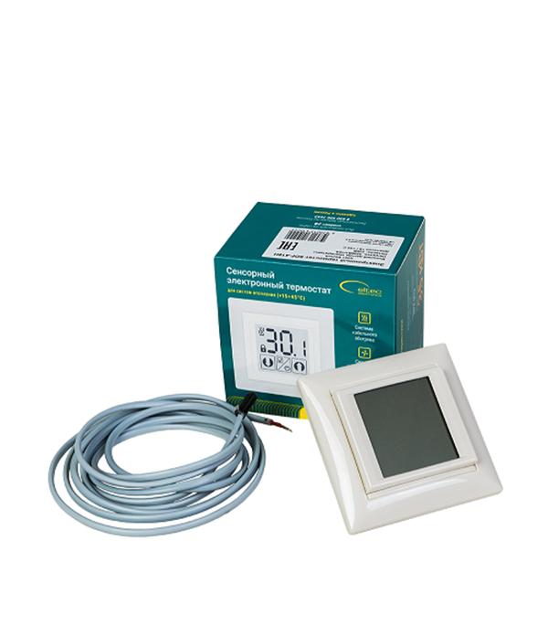 Электронный термостат сенсорный SPYHEAT SDF-418H бежевый