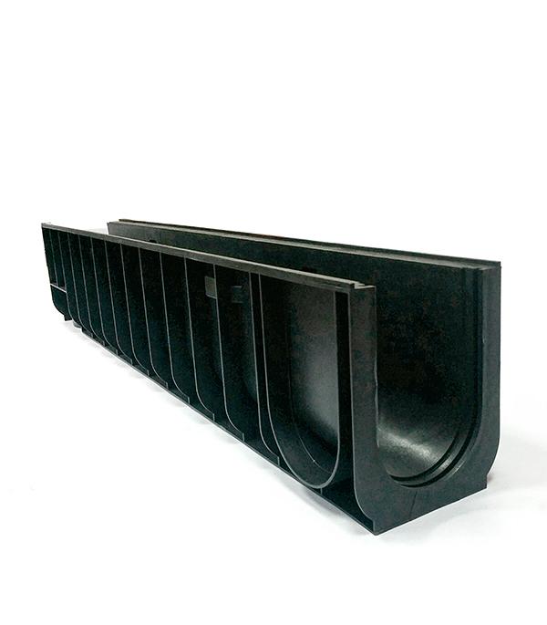 Лоток водоотводный Gidrolica 1000х145х185 мм пластиковый решетка водоприемная 1000х136 мм стальная оцинкованная гидролика