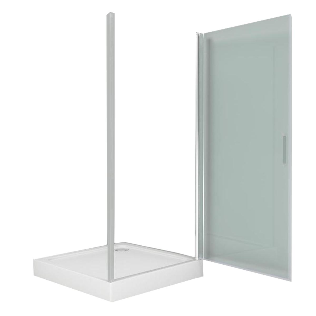 Душевое ограждение прозрачное с поддоном Дверь Пандора 900х900х1850 мм