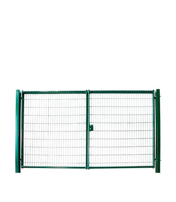 Ворота распашные 2,03x3,5м яч.55х200 зеленый RAL 6005