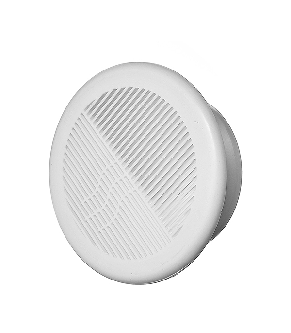 Решетка вентиляционная круглая пластиковая d164 мм c фланцем d125 мм