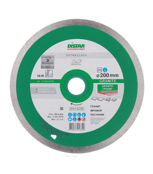 Диск алмазный сплошной по керамограниту 200x25.4 DI-STAR диск отрезной алмазный matrix professional сплошной для влажной резки