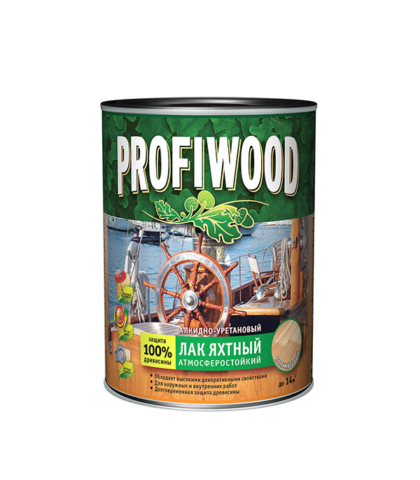 Лак яхтный алкидно-уретановый Profiwood Empils полуматовый 2,4 кг