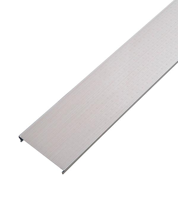 Рейка сплошная S-дизайн 100АS 3м бледно розовый штрих на белом