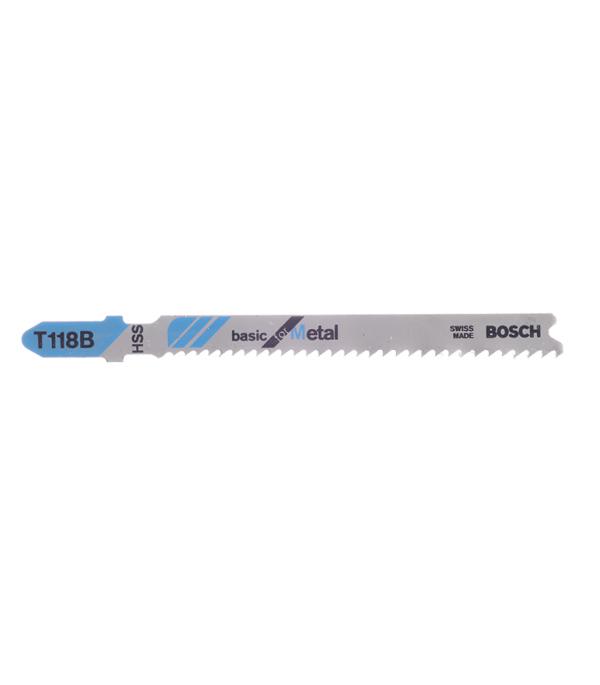 Пилки для лобзика по металлу для прямых пропилов Bosch T118B 2.5-6 мм (5 шт) пилки для лобзика по ламинату для прямых пропилов практика t101aif 3 30 мм 2 шт