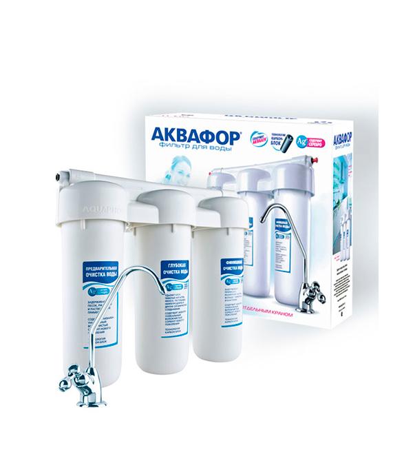 Фильтр Аквафор водоочиститель Трио Норма комплект модулей сменных фильтрующих аквафор в100 5