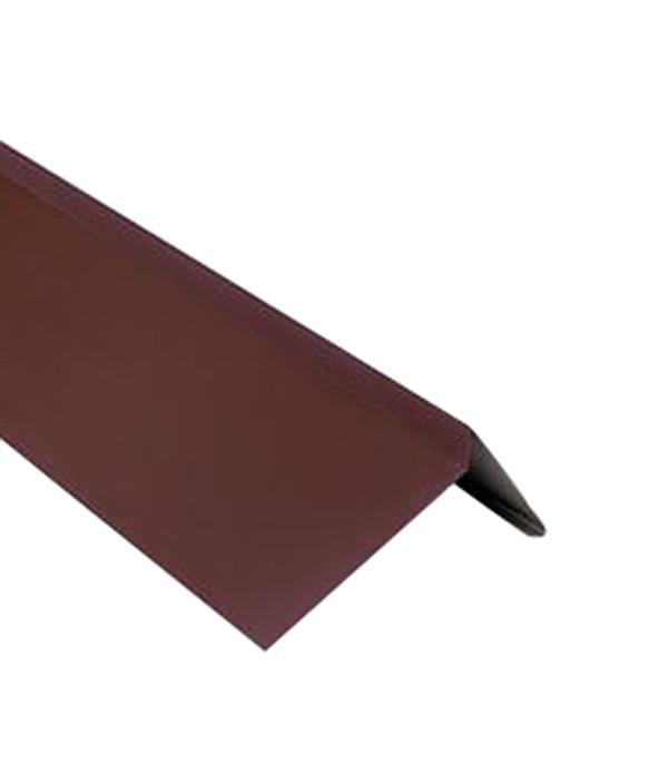 Планка торцевая для битумной черепицы 2 м коричневая RAL 8017