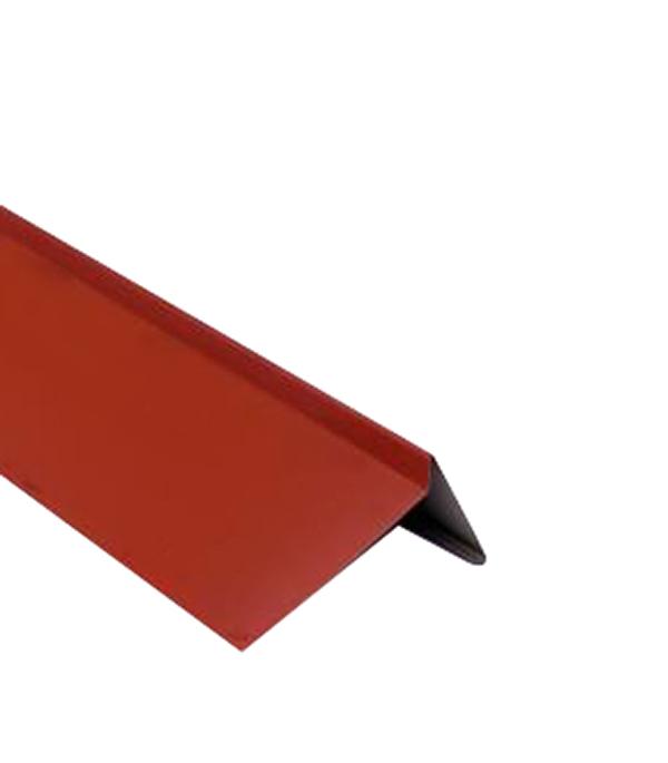 Планка торцевая для битумной черепицы 2 м красная RAL 3009