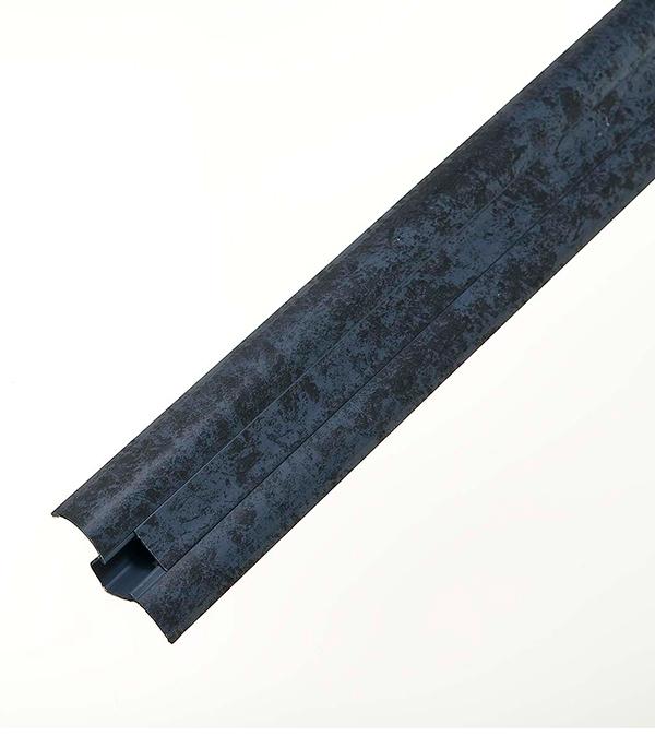 Плинтус с к/к и мягким краем, синий мрамор 5019, 50х23х2500 мм