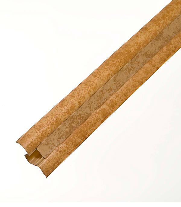 Плинтус с к/к и  мягким краем бежевый мрамор 5016, 50х23х2500 мм