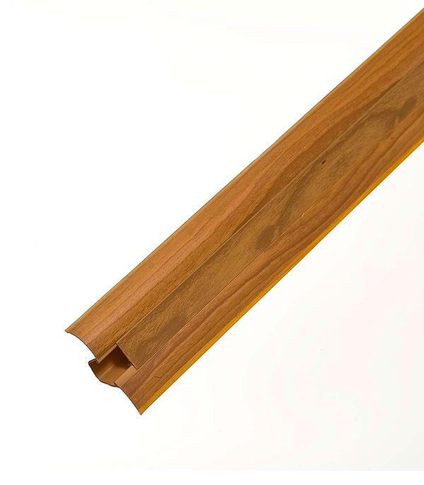 Плинтус с к/к и  мягким краем вишня 50.08, 50х23х2500 мм