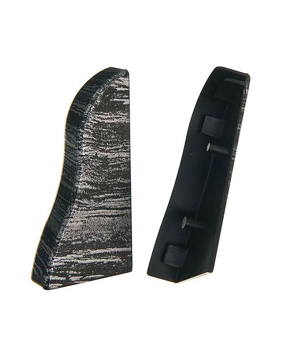 Заглушки торцевые (левая+правая), 50.21 черное серебро