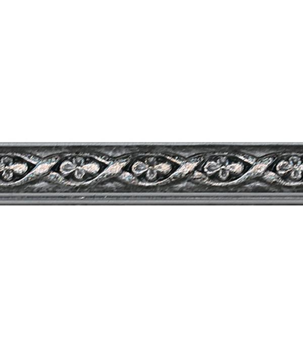 Плинтус (молдинг) 15х8х2400 мм Decomaster серебристый металлик