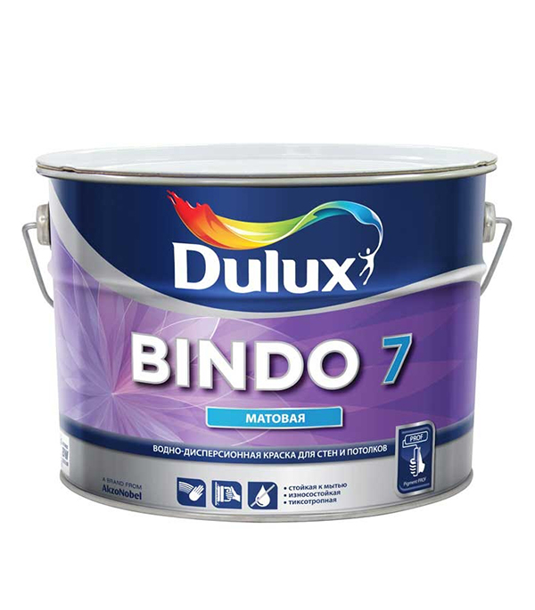 Краска в/д Bindo 7 основа BC матовая Dulux 10 л