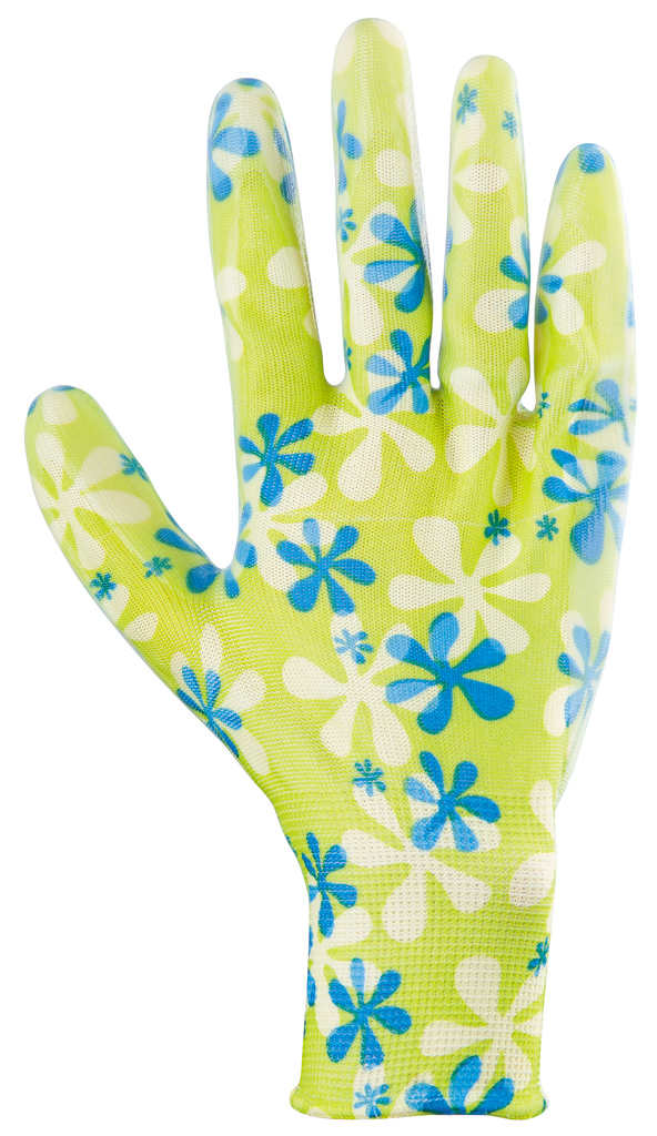 Перчатки из полиэстера с нитриловым обливом, зеленые (размер M) Стандарт