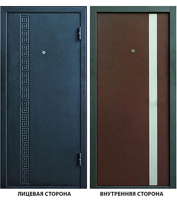 Дверь металлическая ДК Эллада  960x2050 мм правая, без цилиндра и ручки