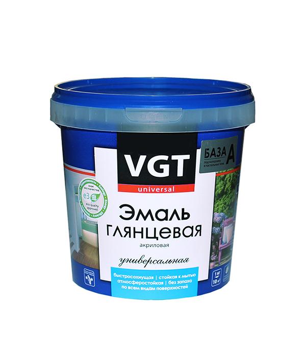 Эмаль акриловая глянцевая супербелая основа А VGT 1 кг оборудование для окраски авто цены