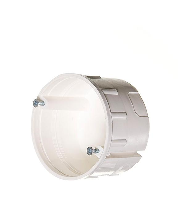 Коробка в бетон с/у установочная круглая с винтами без крышки d75 мм h45 мм КУ-2