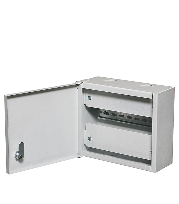 Щиток навесной ОЩВ для 6 модулей и под вводной автомат металлический IP31  щиток встраиваемый для 12 модулей металлический ip31 иэк щрв