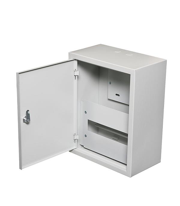 Щиток навесной ЩУРн для 12 модулей и под 1ф счетчик металлический IP31  щиток встраиваемый для 12 модулей металлический ip31 иэк щрв