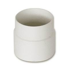 Муфта водосточной трубы пластиковая d80 белая  Murol
