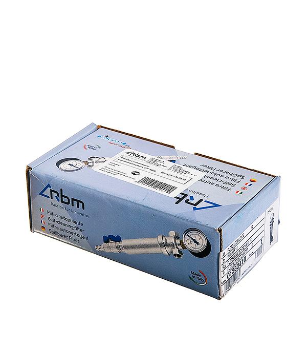 Фильтр с манометром RBM 1/2 внутр(г) х 1/2 внутр(г) 100 мкм фильтр прямой rbm 1 2 вр нр фильтрация 300 мк