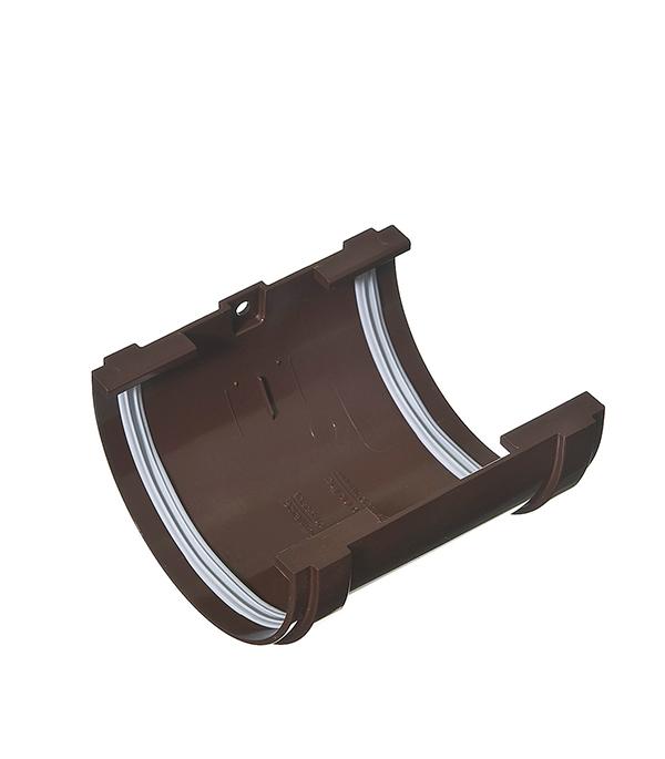 Соединение муфта желоба Vinyl-On пластиковая коричневое (кофе) желоб водосточный vinyl on пластиковый 3 м коричневый кофе