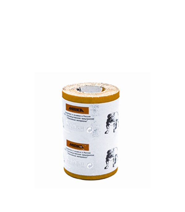 Наждачная бумага Mirox Mirka P100 желтая 115 мм 5 м бумага шлифовальная mirox 93мм x 5м р120