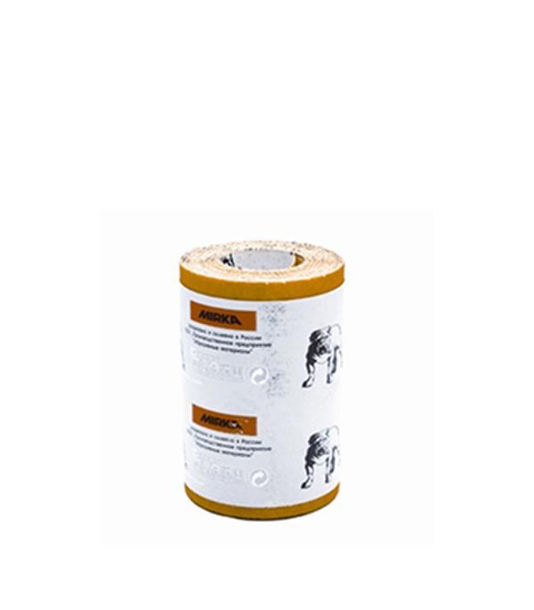 Наждачная бумага Mirox Mirka P80 желтая 115 мм 5 м бумага шлифовальная mirox 93мм x 5м р120